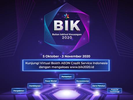 AEON Credit Service Indonesia ikut berpartisipasi dalam Virtual Expo Bulan Inklusi Keuangan Otoritas Jasa Keuangan 2020 mulai tanggal 5 Oktober 2020 sampai 3 November 2020