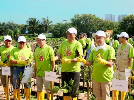 Kegiatan Kerja Sama Tree Planting AEON Environmental Foundation dan Pemerintah Provinsi DKI 2018