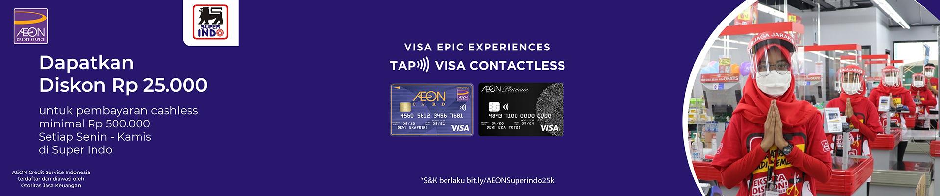 Visa Contactless di Super Indo - Belanja dan Tap untuk Dapatkan Diskon Rp 25.000