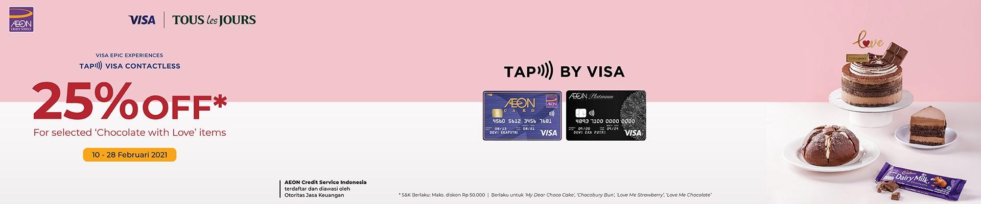 TAP & PAY di Tous Les Jours, Diskon 25% untuk Chocolate with Love Series