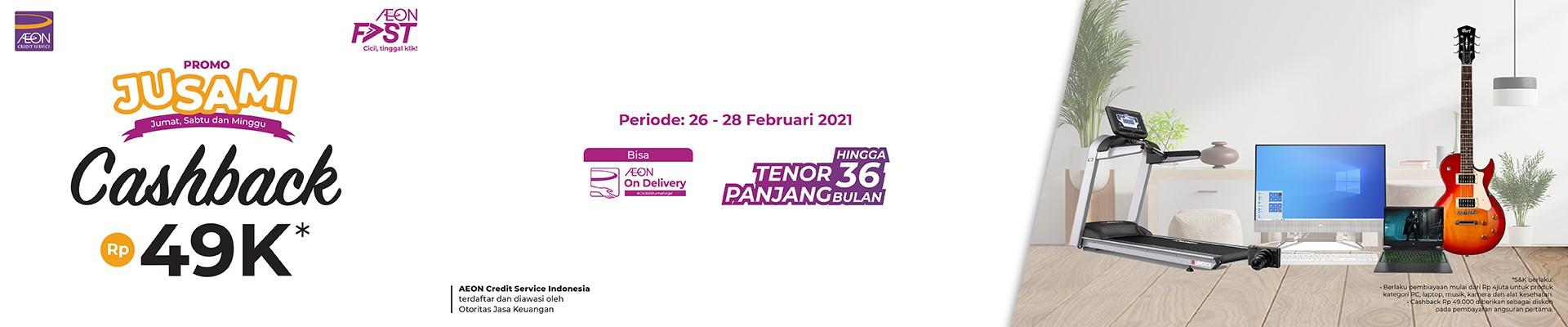 Ajukan dan Dapatkan Cashback JUSAMI Rp 49RIBU Weekend Ini sampai dengan 28 Februari 2021