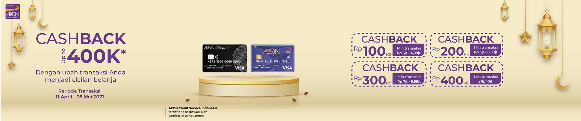 Dapatkan Cashback Hingga Rp 400.000 & Cicilan Ringan 1,25%