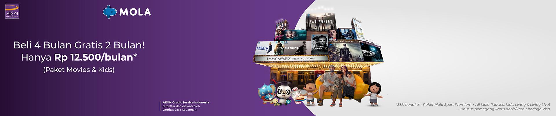 Langganan 4 Bulan Dapatkan Gratis 2 Bulan untuk Paket Film dan Anak-Anak