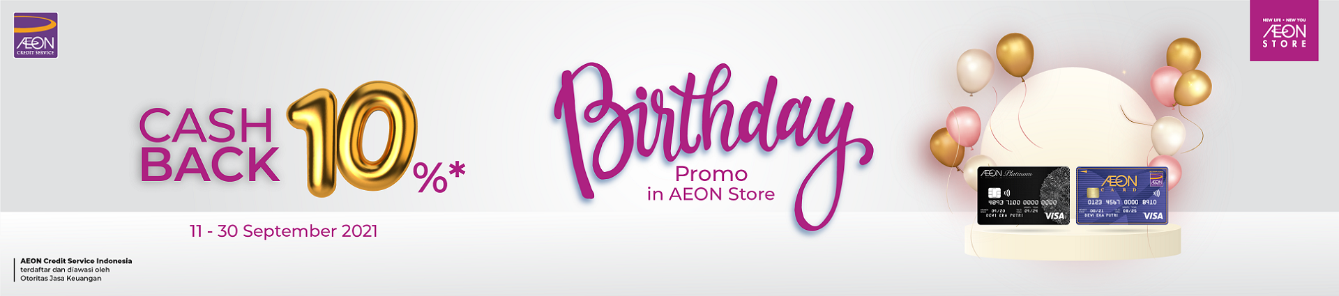 Birthday Cashback 10% di AEON Store